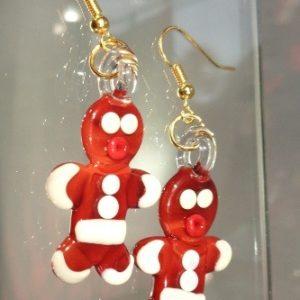Boucles d'oreilles Gingerbreadman
