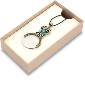 Loupe pendentif perle bleue en...