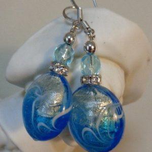 Boucles d'oreilles Artifice bleu et...