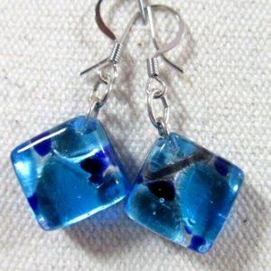 Boucles d'oreilles ARF bleues