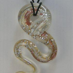 Grand Serpent Blanc et Aventurine...