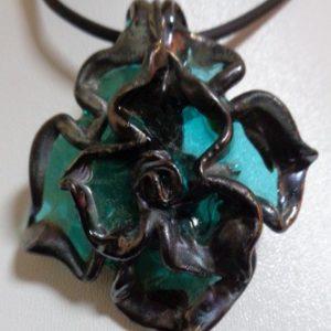 Pendentif Mandala turquoise
