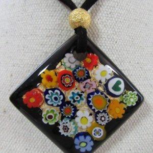 pendentif Losange Murrines multicolor