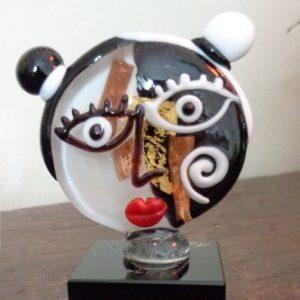 Sculpture Visage Picasso noir et...