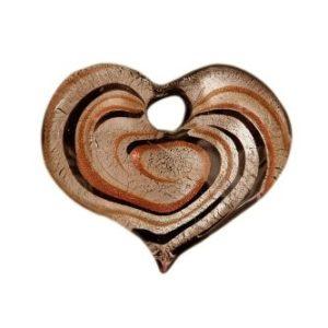 Coeur Spirale feuille d'argent avec...