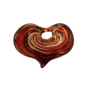 Coeur Spirale Rouge. Fourni avec...