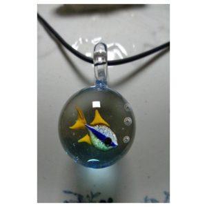 Pendentif bulle poisson tropical