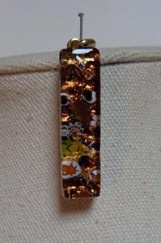 Medaglia bijoux en verre de murano fusing couleur ambré
