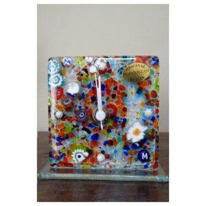 Horloge multicolor en verre de...
