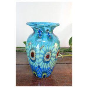 Petit vase amphore murrines tons...