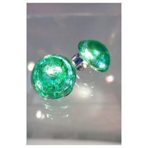 Boucles d'oreilles clips vertes