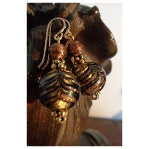 Boucles d'oreilles perles artistiques style...