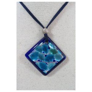 pendentif Losange bleu
