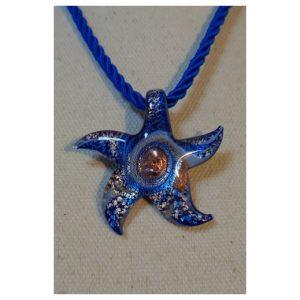 pendentif étoile bleue claire et...