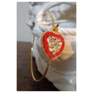 Bracelet coeur en Mosaique Byzantine