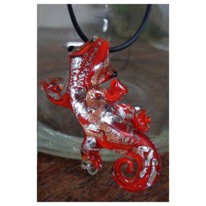 Salamandre rouge avec aventurine et...