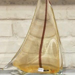 Voilier en verre de Murano...