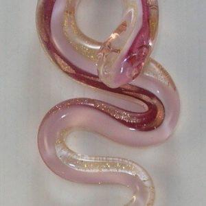 Grand serpent rose feuille d...