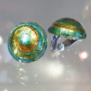 Boucles d'oreilles clips turquoise et...