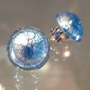Boucles d'oreilles clips bleues