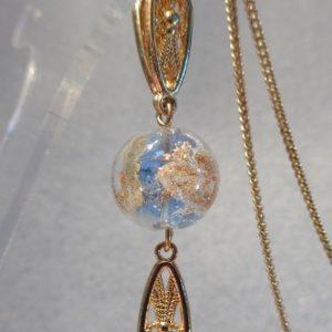 Collier perle Klimt bleue claires